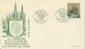 Spain 1961 First Day Cover - 25th Anniversary Franco Cathedral