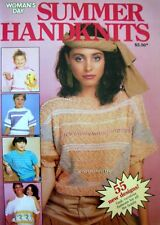Woman Day Knitting Pattern Book - SUMMER HANDKNITS - 55 Family Designs - VGC