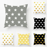 STARS PATTERN SOFT THROW PILLOW CASE SOFA BED CUSHION COVER HOME DECOR LOTS FILL