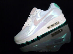 NIKE AIR MAX 90 WMNS Damen Sneaker perlmutt mintgrün-violett/weiß Gr.38,5