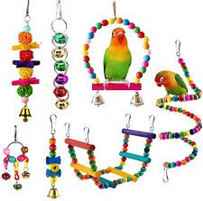 New listing juguetes para pajaros cotorras aves 6 pcs Bird Parrot Toys juegos regalos