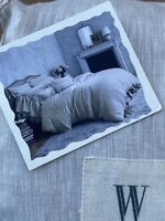 Wamsutta Vintage Abigail Washed Linen Full/Queen Duvet Cover in Flax