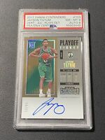 2017-18 Contenders RC JAYSON TATUM Playoff Ticket AUTO /65 PSA 8
