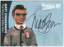 Thunderbirds 50 Years Auto Card MZ4 Matt Zimmerman Voice of Eddie Kerr