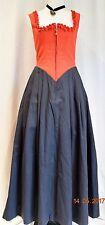 Mittelalter Kleid GR 36 Trachtendirndl Dirndl lang rot-schwarz