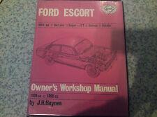 Ford Escort Mk I 1968 On. All Models Early Haynes Workshop  Manual