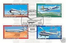 Berlin 1980: Flugzeuge! Jugendmarken Nr. 617-620 mit sauberem Sonderstempel! 1A!