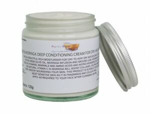 Olive & Moringa Deep Conditioning Cream,Glass Tub of 120g, For Dry & Mature Skin