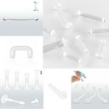 Retainer - Lip Tongue Nose Belly Tragus Pregnancy - Hide Piercing - Choose Style