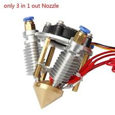 3 in1 out Nozzle Brass Extruder Diamond Hot End 0.4mm for 1.75mm 3D Printer Tool