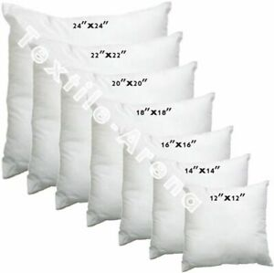 """New Hollowfibre Cushion Pads Inserts Inners Fillers 14"""" 16"""" 18"""" 20"""" All Sizes"""