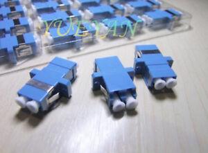 300PCS Fiber Optic Adapter Connector LC-LC Duplex Coupler Flange plate