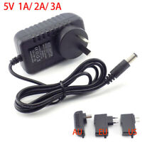 AC/DC Power Supply Adapter Charger 5V 1A 2A 3A for LED Strip light CCTV camera