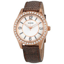 Guess Candy White Dial Ladies Leather Watch Set W0512L1