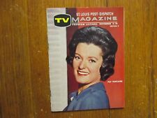 November 4, 1962 St. Louis Post-Dispatch TV Magazine(PAT  FONTAINE/TODAY)