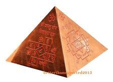 Copper Meru Pyramid with Shri Yantra, Vaastu Dosh Nivaaran Sudarshan Energizer