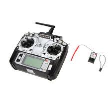 Flysky FS-T6 2.4G 6CH Digital Transmitter + Receiver R6-B for RC Car Glider U7I9