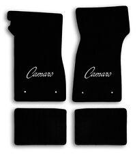 1967-1969 Chevrolet Camaro 4pc Black Carpet Floor Mats with Silver Camaro Logo