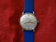 Fine Vintage Doxa 60 Hours Military Style Dial Oversized Stainless Steel Watch