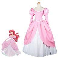 Costume Cosplay Ariel rosa adulti abito principessa vestito sirenetta completo