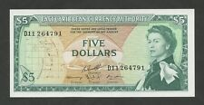 Caribe Oriental - $5 1965 QEII P14h Universal (billetes)