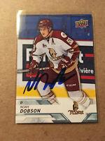 Noah Dobson SIGNED 18/19 UPPER DECK CHL card #75 NEW YORK ISLANDERS