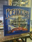 Icehouse Beer Plank Road Brewery Blue Wood Frame Reflective Mirror 2000