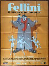 Affiche FELLINI JE SUIS UN GRAND MENTEUR Damian Pettigrew MOEBIUS 120x160cm