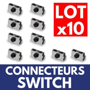 10 Switch Bouton Poussoir à souder sur Télécommande Plip pour Clé CITROEN
