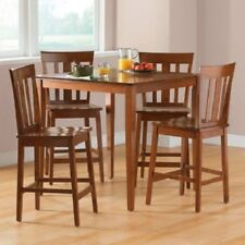 Table and Chairs Dining Set Counter Height Sets 5 Piece Kitchen Pub Breakfast