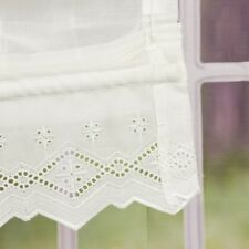 Roller Blind Ribbon Rollo BLIND embroidered voile with Lace 60x150cm Wool White