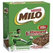 Nestle Milo Dipped With White Chocolate Snack Bars 6 Pack 160g