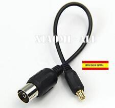 Cable antena RF coaxial adaptador TV DVB-T hembra a macho MCX