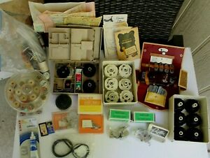 BIG LOT VINTAGE SEWING MACHINE ATTACHMENTS 38 CAMS BUTTONHOLER SINGER KENMORE ++