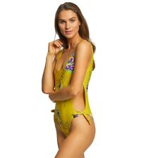 Rip Curl Sweet Nothing One Piece Swimsuit Medium Mustard Yellow Floral - GSINL7