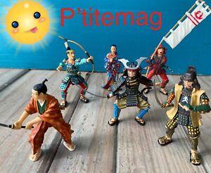 Lot figurines guerriers,Samourai,Ninja…Plastoy