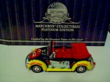 MATCHBOX 1968 VOLKSWAGEN BEETLE CONV., COKE PLATINUM ED., 1:43 DIECAST, MIB, COA