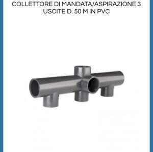 COLLETTORE A 3 USCITE DA 50 IN PVC INCOLLAGGIO- RACCORDI RACCORDO PISCINA