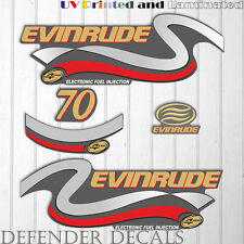 Evinrude 70hp Four Stroke outboard engine decal sticker set kit reproduction 70
