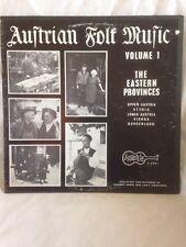Austrian Folk Music Vol. One The Eastern Proveniences Vinyl LP