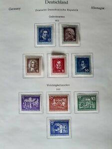 DDR aus 1952, postfrisch mit Falz aus alter Sammlung