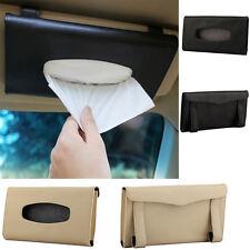 HighQlty Car Sun Visor PU Leather Tissue Box Auto Clip Holder Napkin Accessories