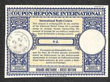 IRC INTERNATIONAL REPLY COUPON GREAT BRITAIN 9d TYPE B7 1955