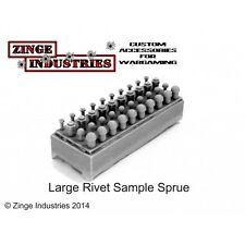 Zinge Industries Large Various Rivets Hex/round Head X40 Forest Sprue X2 S-riv05