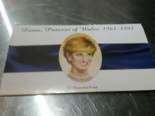 PRINCESS DIANA $5 MEMORIAL COIN WITH CARD/ MARSHALL ISLANDS TRIBUTE 1997