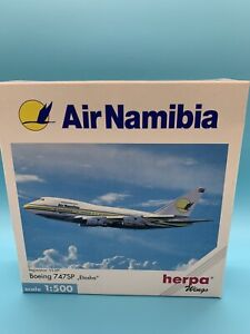 Herpa Wings ~ BOEING 747SP Air Namibia  ~ 1:500 Scale Airplane Model