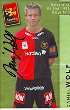 FOOTBALL carte joueur DANIEL WOLF équipe  ADMIRA signée