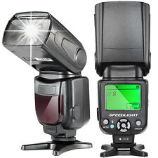 LCD Display Speedlite Flash Light For Nikon & Canon DSLR Cameras