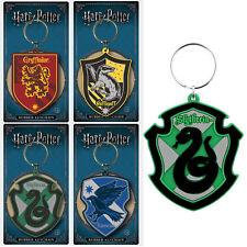 Official Harry Potter Rubber Keyring Key Chain Hogwarts Houses Crest UK Gift New