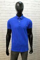 Polo Uomo Tommy Hilfiger Taglia L Cotone Blu Maglietta Elastica Maglia T-Shirt